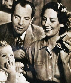 Count Sigvard Bernadotte of Wisborg, formerly Prince Sigvard of Sweden, with his 2nd wife, Sonja Christensen Robbert, and only child, Count Michael.