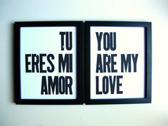 Tu eres mi amor / You are my love, but instead of english in german :)