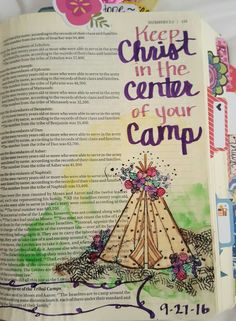 Would go along with Lehi family pitching tents in wilderness BofM Scripture Art, Bible Art, Scripture Journal, Bible Drawing, Bible Doodling, Bible Journaling For Beginners, Art Journaling, Bible Verses Quotes, Scriptures