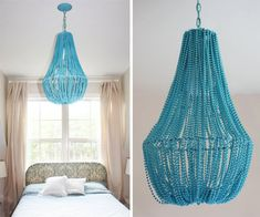 DIY Decorating Design Hanging Lamp. Wouldnt this be fun to do a huge one in the middle of the OC?
