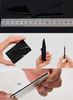 Credit Card Knife brand new Folding Mini Wallet Camping Outdoor Pocket Tools #cute #ebay