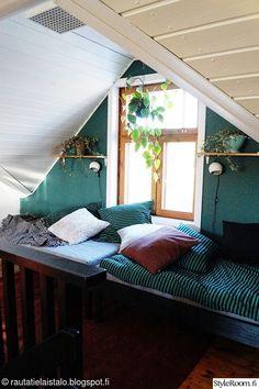 kierrätys,sänky,marimekko,retro,viherkasvit