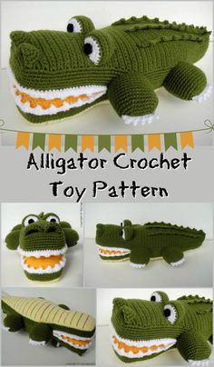 Crochet Pattern for Stuffed Alligator Toy. PDF instant download. #etsy #crochet #pattern #amigurumi #affiliate
