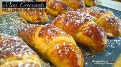 Mini croissants rellenos de nutella, ¡especial para golosos!