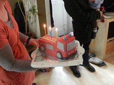 Fire engine cake Fire Engine Cake, Birthdays, Engineering, Cakes, Baking, Desserts, Projects, Kids, Food