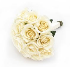 Cream fresh touch half open roses make a timeless bridal posy. Find your perfect wedding flowers at www.loveflowers.com.au