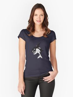Angry Killer Whale Women's T-Shirt • Also buy this artwork on other apparel, stickers, phone cases, and more.