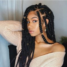 Goddess braids are sleek, sexy and trendy. Like many other braided styles, there's something exciting about goddess braids hairstyles, which is why so many women have been getting the look. Protective Hairstyles For Natural Hair, Natural Hair Braids, Braided Hairstyles For Black Women, African Braids Hairstyles, Braids For Black Hair, Marley Twist Hairstyles, Black Girl Braids, Goddess Hairstyles, Casual Hairstyles