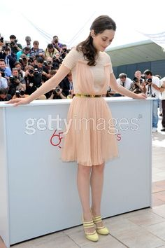 such a pretty dress // Marion Cotillard at Cannes 2012