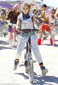 In her element: Cara, 23, - riding a Gocycle from Fully Charged - revealed the true extent...