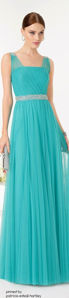 Aire Barcelona 2016 turquoise maxi dress women fashion outfit clothing style apparel @roressclothes closet ideas