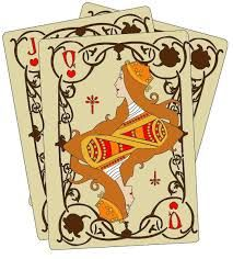Image result for art nouveau playing cards