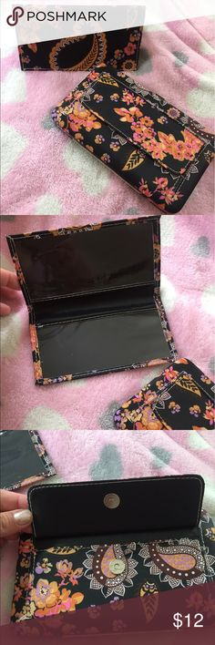 New Wallet with matching checkbook cover Floral wallet and checkbook cover new Bags Wallets