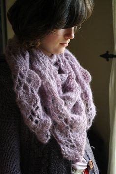 Mohair crochet shawl