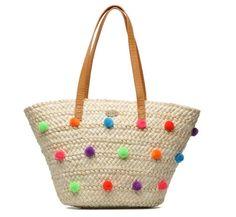 Los 50 bolsos de rafia que buscarás en las rebajas Oahu, Roxy, Straw Bag, Diy And Crafts, Tote Bag, Knitting, Baskets, Couture, Beading