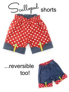 Now listed for only $6.75!! Scalloped Shorts PDF Sewing Pattern - Whimsy Couture...12 months through 16 girls!!