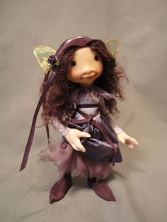 **The Little Purple Girl Armatured Doll Figure by Wendy Froud