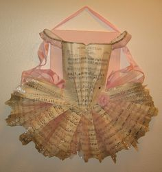 I am in awe of paper creations like this tutu....by Grace Barzyz   If you were decorating with ballet...this would be sweet!