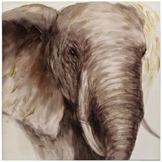 Our Majestic Elephant Canvas Art adds an exotic beauty to your walls! Brought to life with gel accents, this elephant print will whisk away your imagination! Canvas Home, Canvas Wall Art, Canvas Prints, Canvas Canvas, Elephant Canvas Art, Elephant Home Decor, Oil Painting On Canvas, Oil Paintings, Pictures To Paint