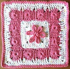 #206 Thirteen Grannies In A Square Crochet Dishcloth – Maggie Weldon Maggies Crochet ~ free pattern