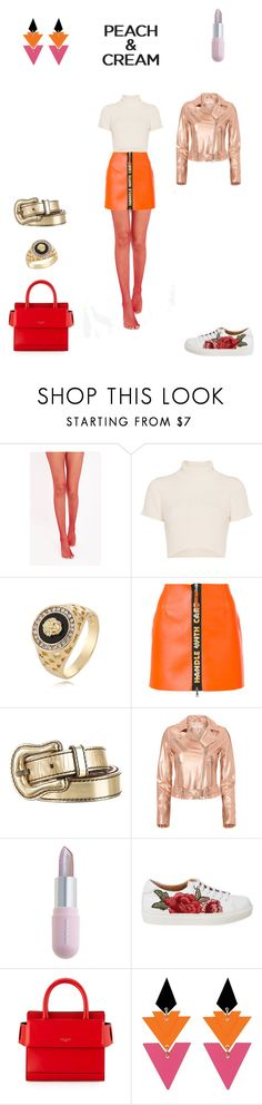 """Peach Girl Look"" by kaya ❤ liked on Polyvore featuring Staud, WithChic, Heron Preston, Fendi, IRO, Winky Lux, Givenchy, Toolally and peachlipstick"