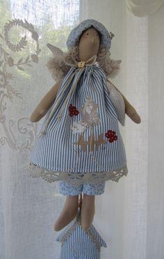 Deko-Objekte - Engel mit Herz Landhaus - ein Designerstück von Feinerlei bei…
