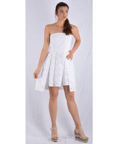 Μπροντερί, λευκό, μίνι φόρεμα. Ένα απο τα πιο καλοκαιρινά και δροσερά πανιά με σύνθεση 100 % βαμβάκι και κατασκευασμένο στην Ελλάδα. Mini Dresses, Tops, Women, Fashion, Moda, Fashion Styles, Fashion Illustrations, Short Dresses, Woman