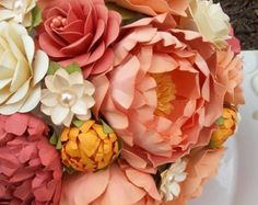 Paper Bouquet  Paper Flower Bouquet  Wedding door morepaperthanshoes