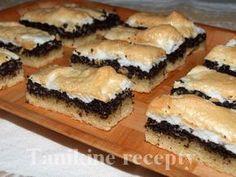 makový koláč so snehom Czech Recipes, Russian Recipes, Ethnic Recipes, Sweet Cakes, Spanakopita, Sweet And Salty, Sweet Desserts, Desert Recipes, Food Art