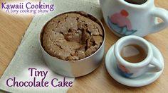 Tiny Chocolate Cake (Edible) - Kawaii Cooking - a tiny cooking show