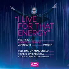 ''I Live For That ENERGY'' #TranceFamily #Trance #ASOT2017