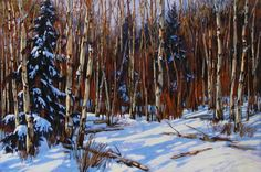 David Langevin, 'We'll Wait to see How you do', Winter Landscape, Landscape Art, Landscape Paintings, Landscapes, Canadian Painters, Canadian Artists, Nature Sauvage, Modern Impressionism, Diy Art Projects