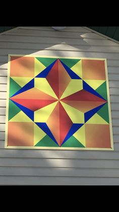Barn Quilt Designs, Barn Quilt Patterns, Pattern Blocks, Quilting Designs, Painted Barn Quilts, Barn Signs, Stained Glass Quilt, Barn Art, Colorful Quilts
