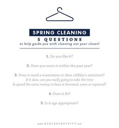 Spring Cleaning Tips For Your Closet | Megan Michele for Ashlee Proffitt