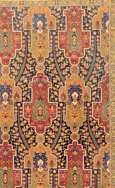 Close-up of an Antique Turkish Hereke Rug from Doris Leslie Blau (Circa-1920) #OrientalRugs