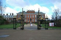 Flowers were still on gate here at Kensington Palace.