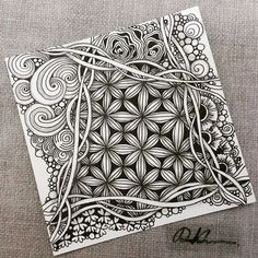 Zentangle 052816. #zentangle #zendoodle #doodle #doodleart #drawing #draw #art…