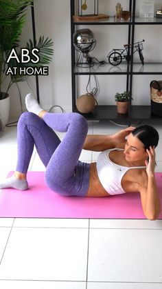 Abs Home Workout - Lisa Fiitt Fitness Workouts, Gym Workout Videos, Gym Workout For Beginners, Abs Workout Routines, Fitness Workout For Women, At Home Workouts, Fitness And Exercise, Mini Workouts, Workout Songs