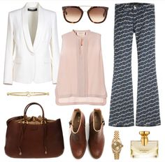 Seafarer look of the day  To shop and see more details visit our Polyvore profile at http://polyv.re/1kUkGBe  #seafarer #theseafarer #patterned #jeans #robertadicamerino #polyvore #look #outfit #classy #style #fashion #woman #apparel