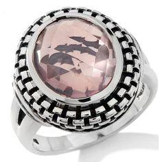 hsn Hilary Joy Rose Quartz Sterling Silver Oval Ring Size 9 #HilaryJoy #Solitaire