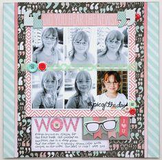 #papercraft #scrapbook #layout A My Mind's Eye Cut & Paste Flair layout by Jana Eubank.
