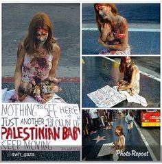girl from Spain, living in LA, protesting for Gaza