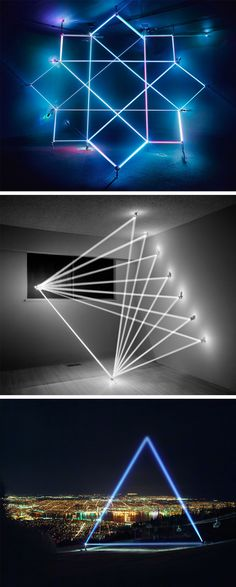 Geometric Sculptures Produced From the Immateriality of Light by James Nizam