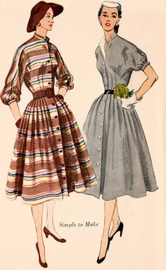 1950s Coat Dress with Detachable Collar Simplicity 3768 Vintage 50s ROCKABILLY Sewing Pattern Size 13 Bust 31 UNCUT by sandritocat on Etsy