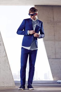 For the guy who likes to stand out from the crowd, meet the Blue Sateen Suit.