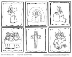 Free Holy Week Sequencing Cards from Charlotte's Clips and Kindergarten Kids