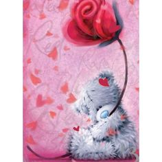 Tatty Teddy with Rose Me to You Bear Valentine's Day Card (V77SS005) : Me to You Online - The Tatty Teddy Superstore.
