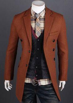 Modern Men Fashion Slim Fit Long Blazer Coat from Sneak Outfitters. Cheap Mens Jackets, Latest Mens Fashion, Men Fashion, Korean Fashion, Trench Coat Men, Mens Winter Coat, Slim Fit Jackets, Long Blazer, Sharp Dressed Man