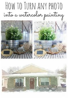 How to turn any photo into a watercolor painting - Easy, quick, & fun!! lizmarieblog.com