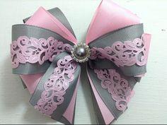 Lazo elegante con listón plisado en palo de rosa y beige VIDEO No. 445creaciones rosa isela - YouTube
